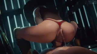 Ashe Reverse Cowgirl Overwatch (Animation W/Sound)