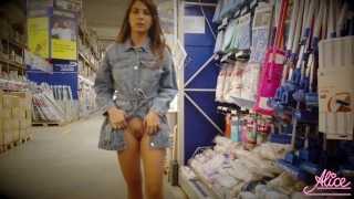 Brunette Walking In The Mall And Naked – Public Nudity