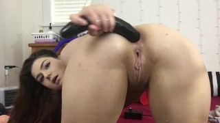 Huge BBC Dildo 24 inches Deep anal with squirt  Lexa Lite
