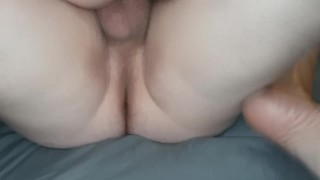 Friend came over for movies, ended up cumming on his cock in MFM threesome